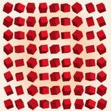 Röda kuber för vektor 3d Arkivfoto