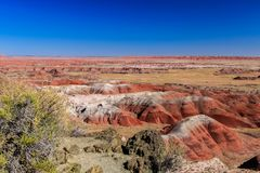 Röda kullar av målad Arizona ` s deserterar Royaltyfri Bild