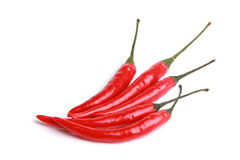 Röda kyliga peppar Arkivfoto