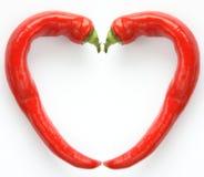 röda kyliga peppar Royaltyfri Fotografi
