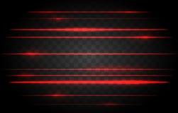 Röda laser-ljus stock illustrationer