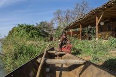 Röda Lechwe i nationalparken W, Niger royaltyfri foto