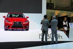Röda Lexus Fotografering för Bildbyråer