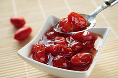 röda lilla tomater för driftstopp Royaltyfria Bilder