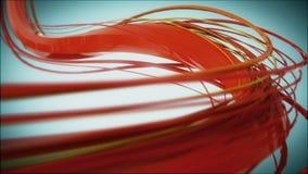 röda linjer för 8k 4k UHD saktar roterande bakgrundbakgrund stock illustrationer