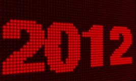 Röda ljusdiod-lampor för nytt år 2012 stock illustrationer