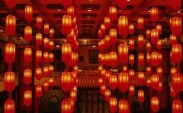 röda lyktor Arkivbilder