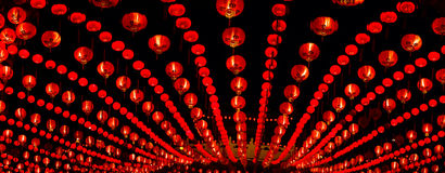 Röda lyktor Arkivfoton