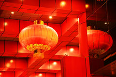 röda lyktor arkivfoto