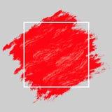 Röda målarfärg och ram Royaltyfri Fotografi