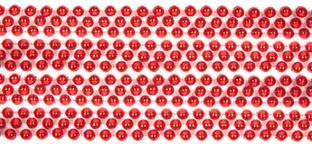 Röda Mardi Beads Arkivbilder