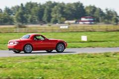 Röda Mazda car-aug27 Royaltyfri Fotografi