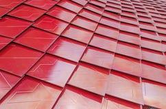 Röda metalized taktegelplattor Royaltyfri Foto