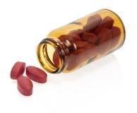Röda minnestavlor, flaska Royaltyfri Bild