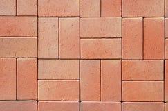 Röda moderna keramiska ClinkerPavers Arkivfoton