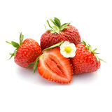 röda mogna jordgubbar Royaltyfri Fotografi