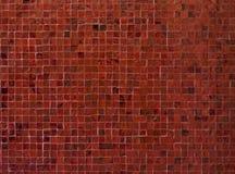Röda mosaiktegelplattor Royaltyfria Foton