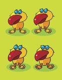 Röda näbbfåglar Arkivbild