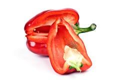 röda nya peppar för sammanhang Royaltyfri Fotografi