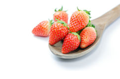 Röda nya strawberies Arkivbilder