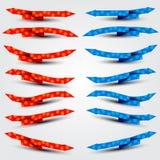 Röda och blåa pilar Royaltyfria Foton