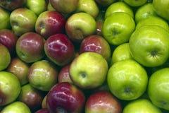 Röda och gröna äpplen Arkivfoto