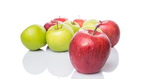 Röda och gröna Apple XI Royaltyfri Bild