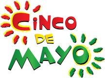 Röda och gröna Cinco De Mayo Swirls royaltyfri illustrationer