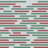 Röda och gröna linjer på sömlös modell för grå bakgrund Royaltyfria Foton