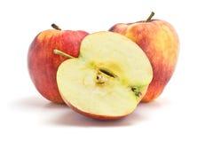 Röda och gula äpplen Arkivbild