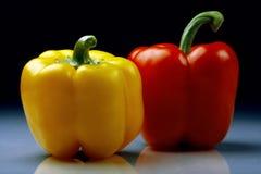 Röda och gula peppar Royaltyfri Fotografi