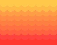 Röda och gula vågor stock illustrationer