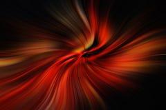 Röda och svarta linjer som flyttar sig till mitten Royaltyfria Bilder