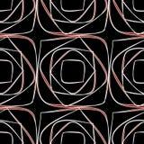 Röda och vita fyrkanter Arkivfoton