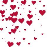 Röda pappers- hjärtor för utklipp vektor illustrationer
