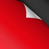 Röda pappershörn på en svart bakgrund också vektor för coreldrawillustration royaltyfri illustrationer