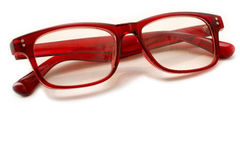 Röda par av exponeringsglas Arkivbilder
