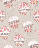 röda paraplyer Fotografering för Bildbyråer