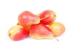 röda pears Arkivfoto