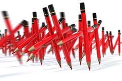 Röda Pen March Royaltyfri Illustrationer