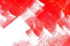 röda penseldrag Royaltyfri Bild
