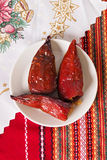 Röda peppar som är välfyllda med bönor Fotografering för Bildbyråer