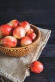 röda persikor Fotografering för Bildbyråer