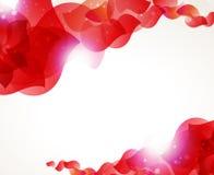 Röda petals vektor illustrationer