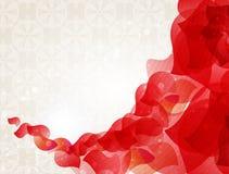 Röda petals royaltyfri illustrationer