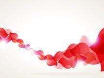 Röda petals vinkar vektor illustrationer