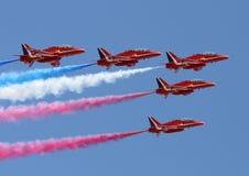 röda pilar Royaltyfria Bilder