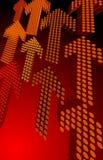 röda pilar 3d Royaltyfri Bild