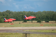 röda pilar Royaltyfri Foto