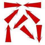 röda pilar Royaltyfria Foton